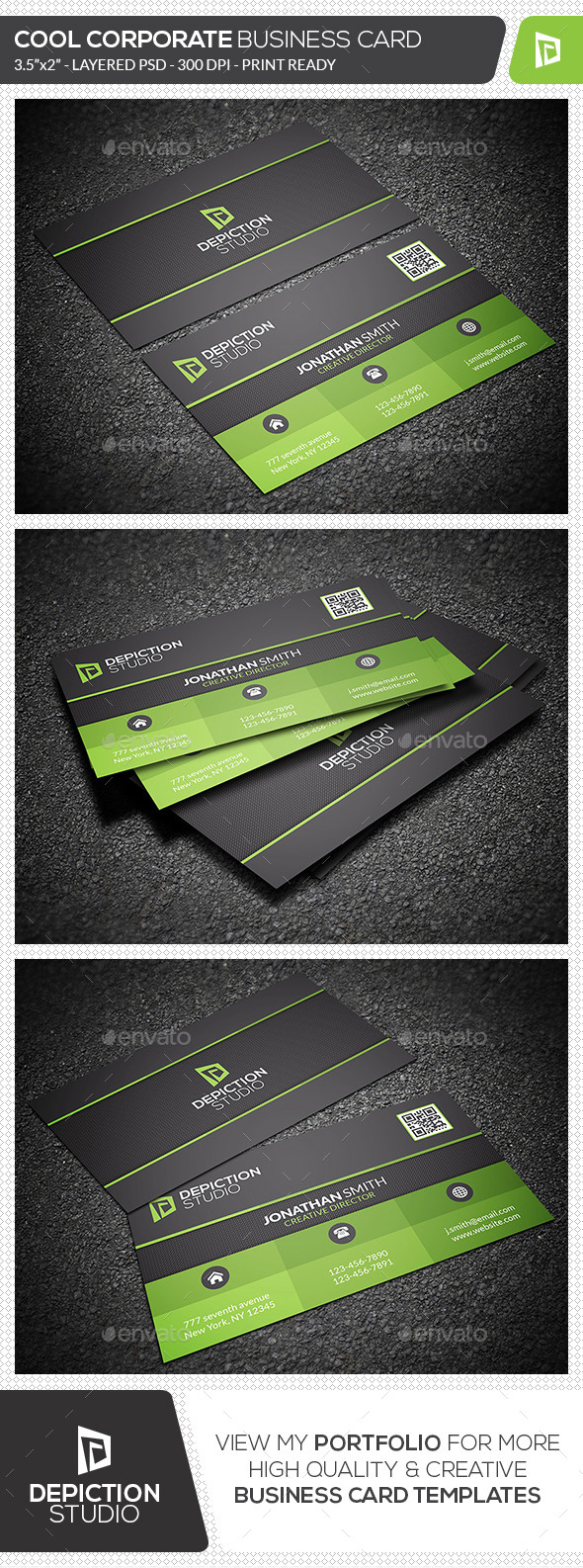 GraphicRiver Cool Corporate Business Card 11955700