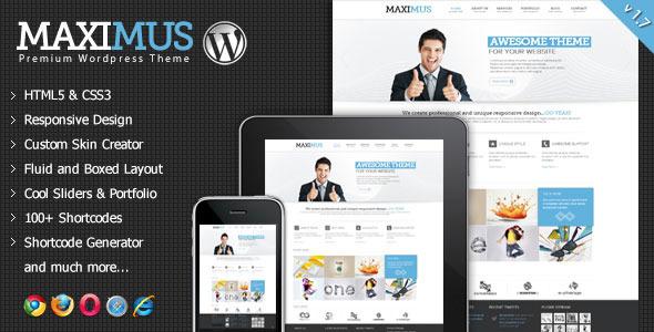 Maximus - Responsive Multi-Purpose Wordpress Theme - Corporate WordPress
