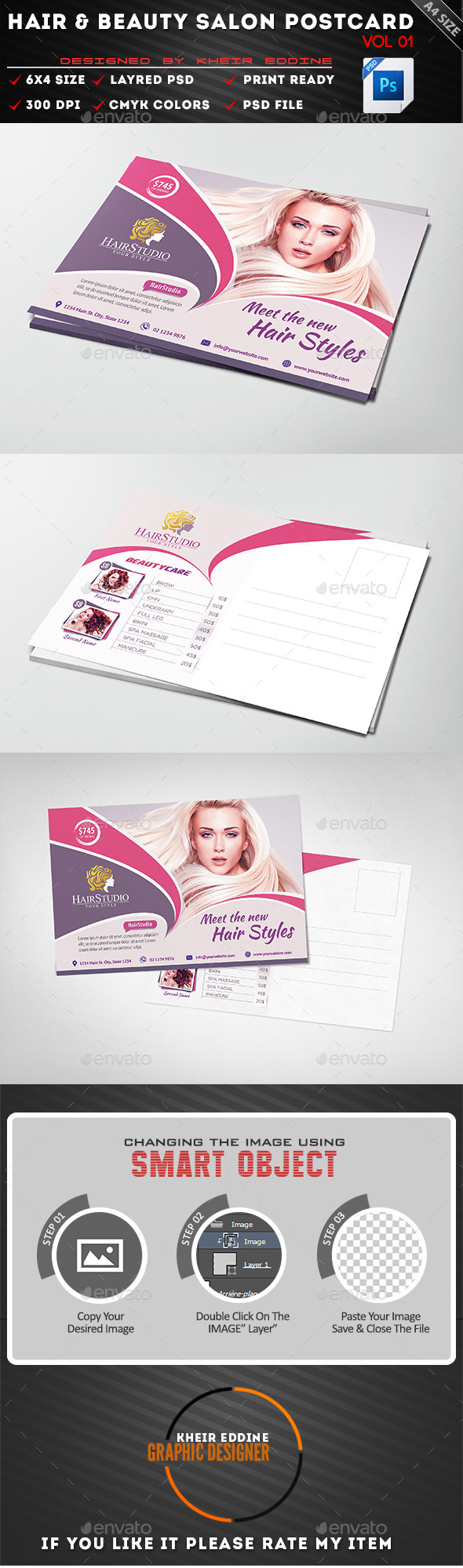 GraphicRiver Hair & Beauty Salon PostCard Vol 01 11955740