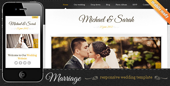 Marriage - Responsive Wedding Template by SindevoThemes | ThemeForest