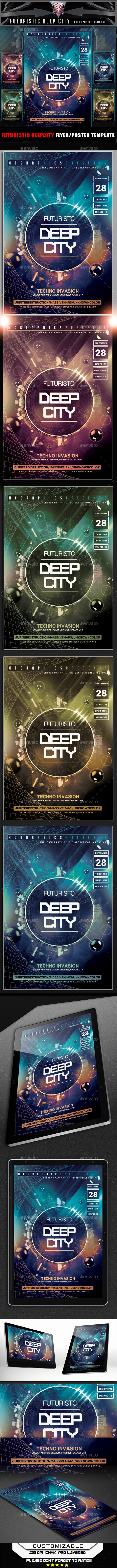 GraphicRiver Futuristic Deep City Flyer Template 11956138