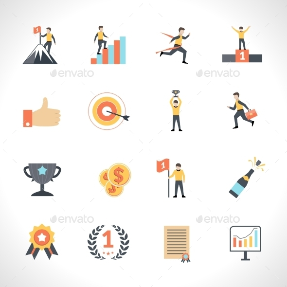 GraphicRiver Success Icons Set 11956339