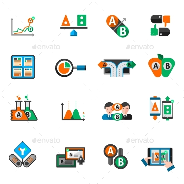 GraphicRiver A-b Testing Icons Set 11956344