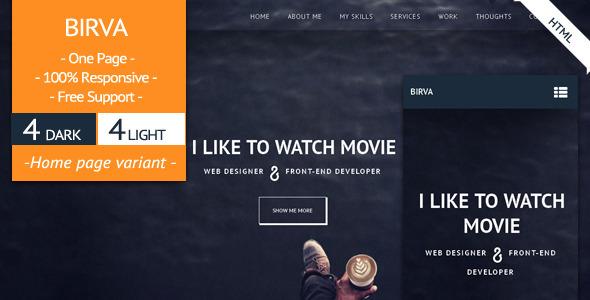 BIRVA - Responsive  Portfolio Template