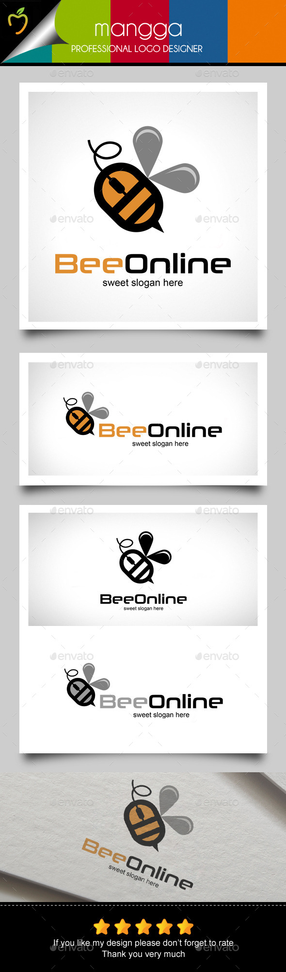 GraphicRiver Bee Online Logo 11956557