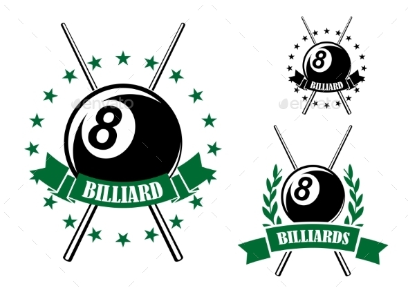 GraphicRiver Billiards Or Pool Sporting Emblem 11956601