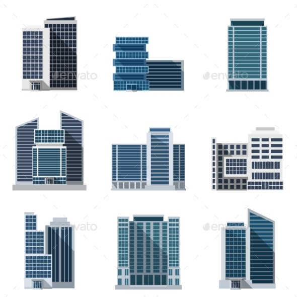 GraphicRiver Office Buildings Set 11956607