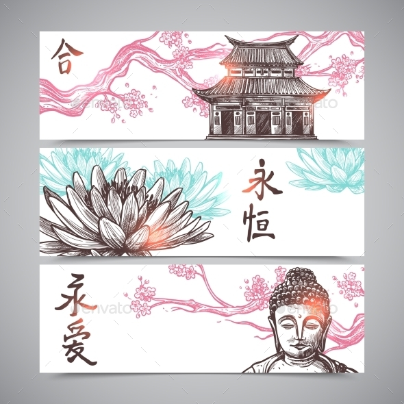 GraphicRiver Asian Banners Set 11956677