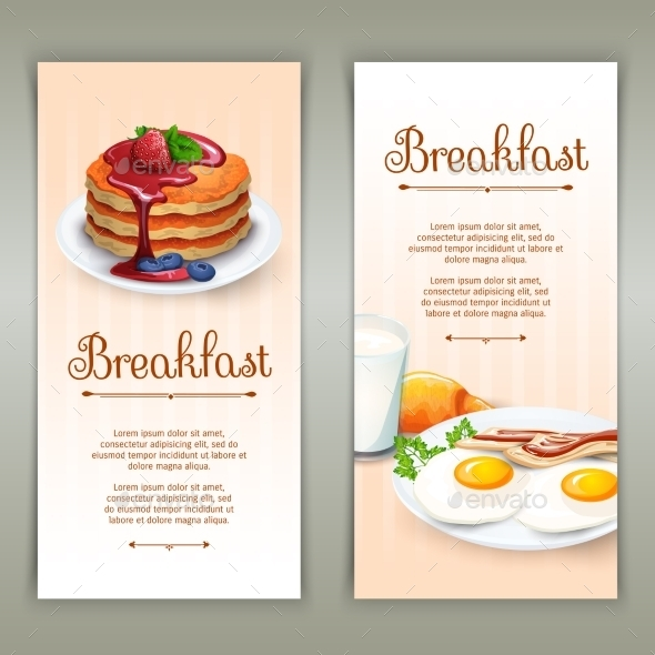 GraphicRiver Breakfast 2 Vertical Banners Set 11956719
