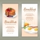 Breakfast 2 Vertical Banners Set - GraphicRiver Item for Sale