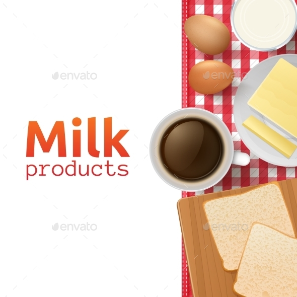 GraphicRiver Milk and Dairy Products Concept 11956725