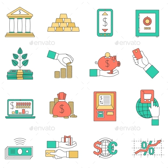 GraphicRiver Banking Business Icons Set 11956760