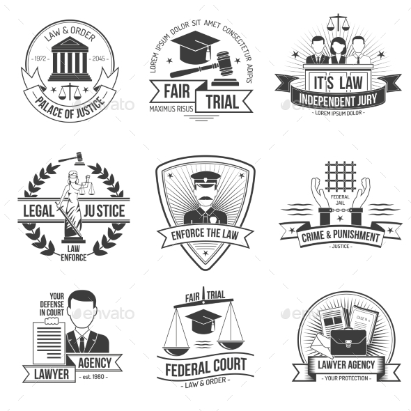 GraphicRiver Justice Label Set 11956763