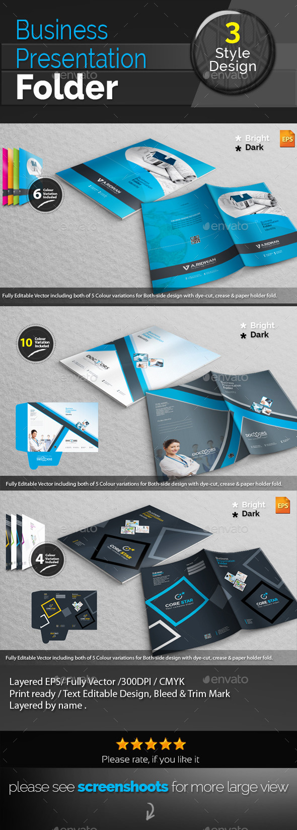GraphicRiver Corporate Presentation Folder Bundle 11956770
