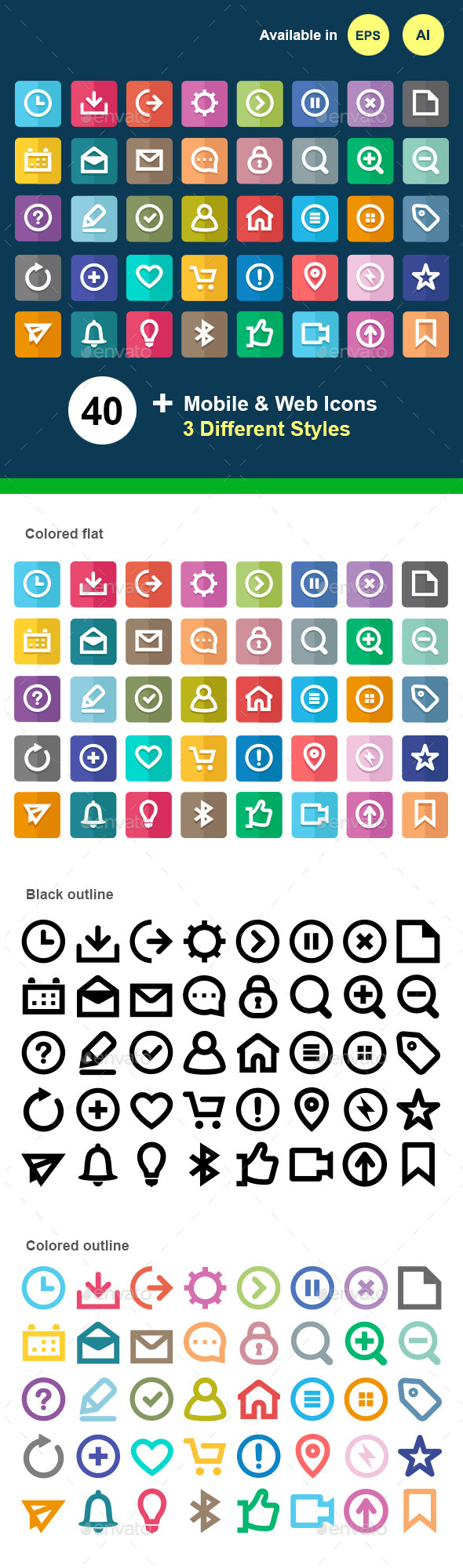 GraphicRiver Mobile & Web UI Icons 11956802