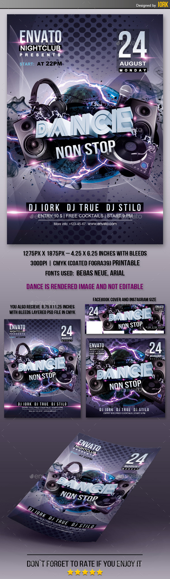 GraphicRiver Dance Non Stop Flyer 11956907