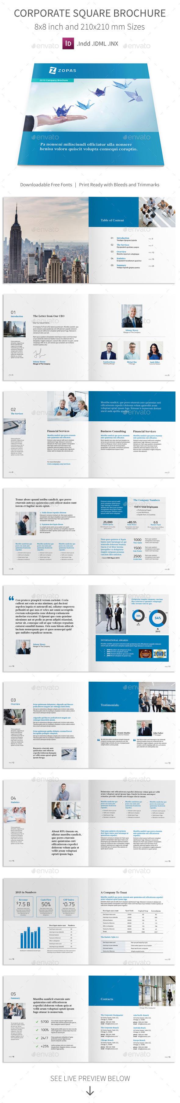 GraphicRiver Corporate Company Square Brochure 11956932