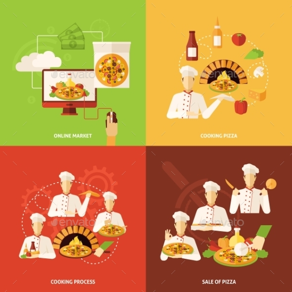 GraphicRiver Pizza Order And Making Icon 11956956