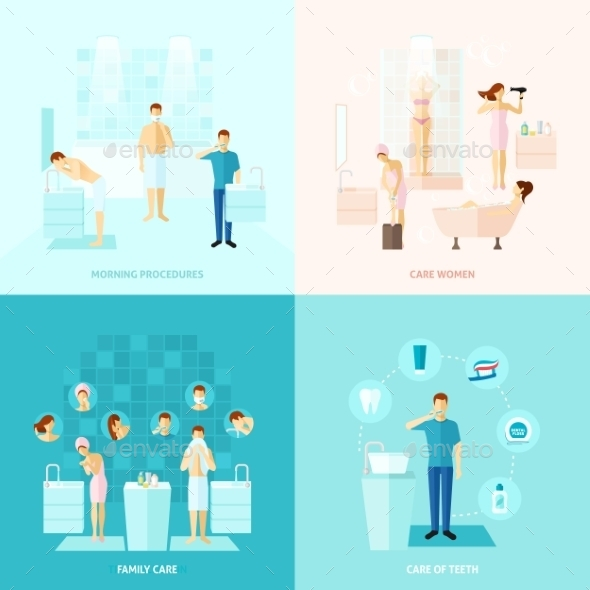GraphicRiver Personal And Family Care Icons Set 11956957