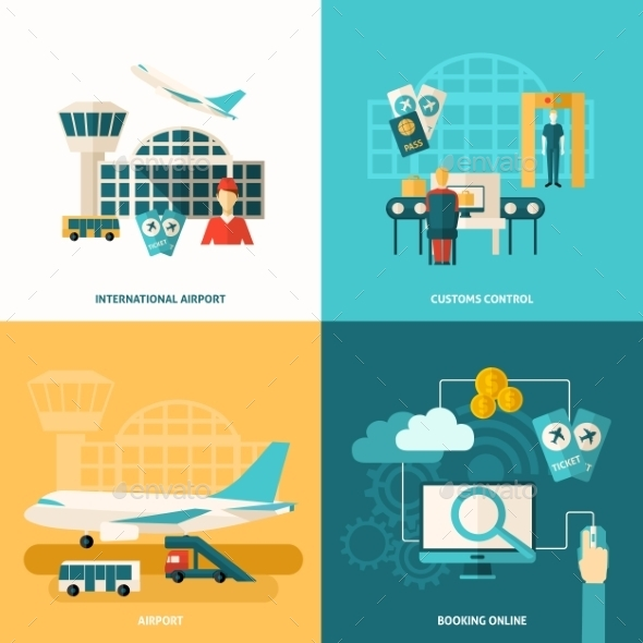 GraphicRiver Airport Icon Flat 11956965