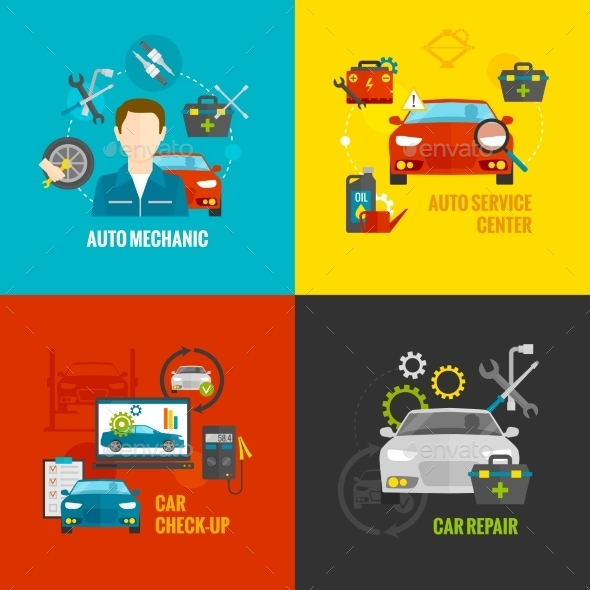 GraphicRiver Auto Mechanic Set 11956972