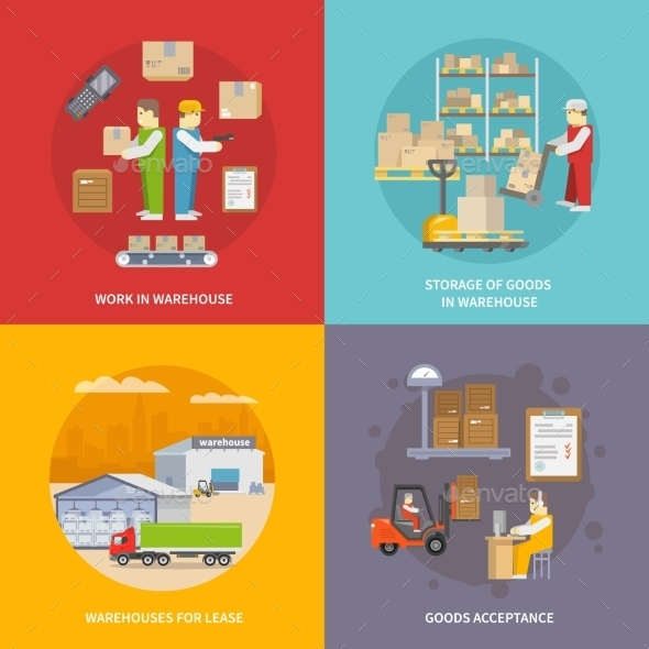 GraphicRiver Warehouse Flat Set 11956977
