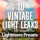 10 Vintage Light Leaks vol.1 - Lightroom Presets