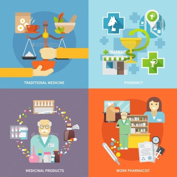 GraphicRiver Pharmacist Icons Set 11956987