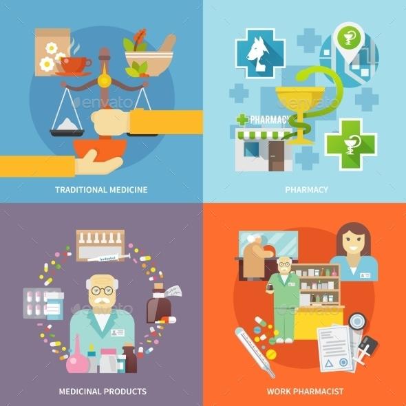 GraphicRiver Pharmacist Icons Set 11956987