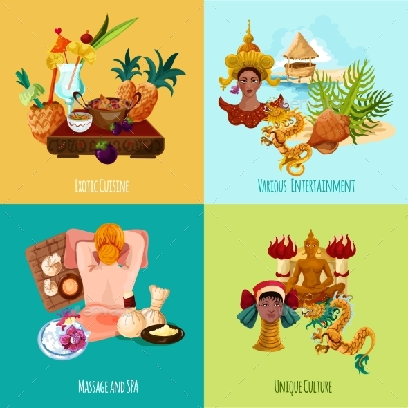GraphicRiver Thailand Touristic Set 11957044