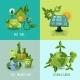 Ecology Design Concept Set - GraphicRiver Item for Sale