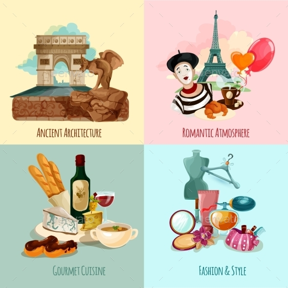 GraphicRiver Paris Touristic Set 11957059