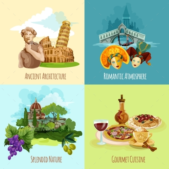 GraphicRiver Italy Touristic Set 11957064