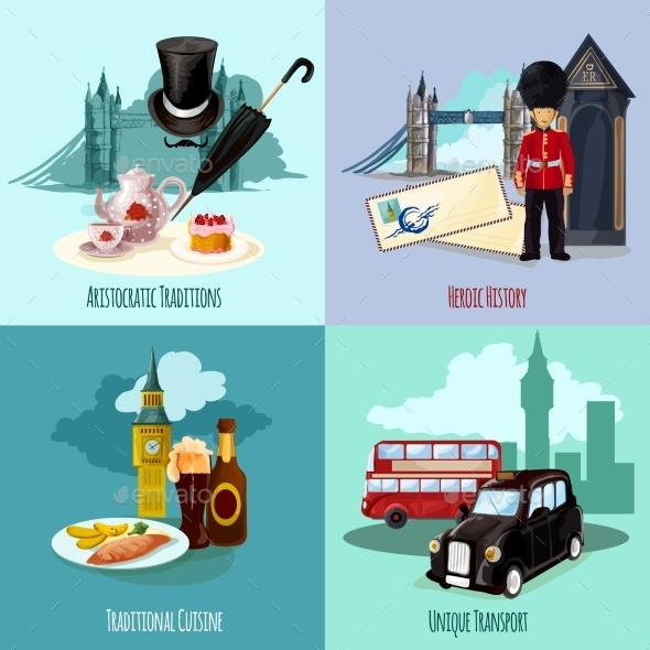 GraphicRiver London Touristic Set 11957072