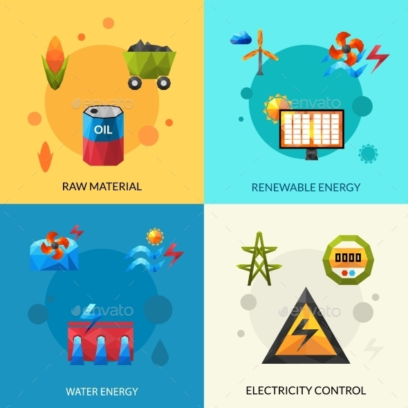 GraphicRiver Energy Resources Icons Set 11957108