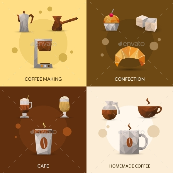 GraphicRiver Coffee and Confectionery Icon Set 11957111