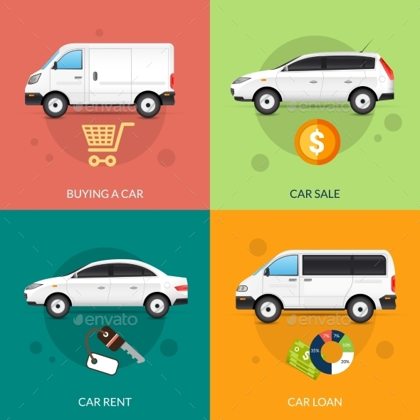 GraphicRiver Car For Rent And Sale 11957135