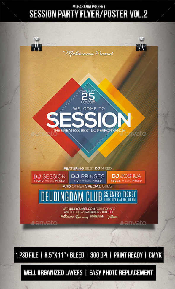 GraphicRiver Session Party Flyer Poster Vol.2 11957145