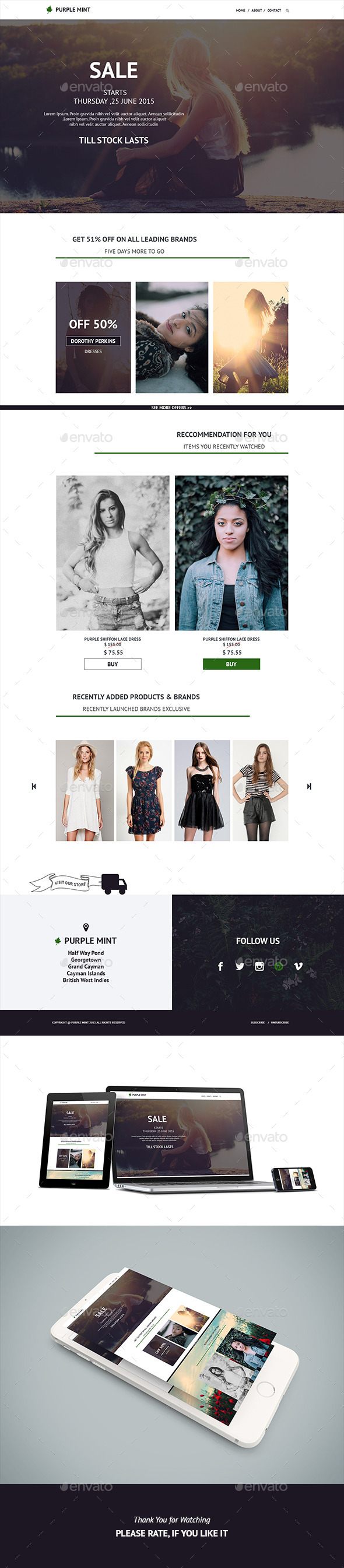 GraphicRiver Purple Mint Fashion E-Newsletter 11957238