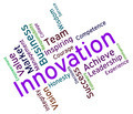 Innovation Words Shows Innovating Concept And Text