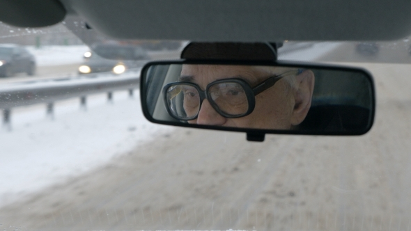 VideoHive Traveling By Car In City On Dull Winter Day 11957327