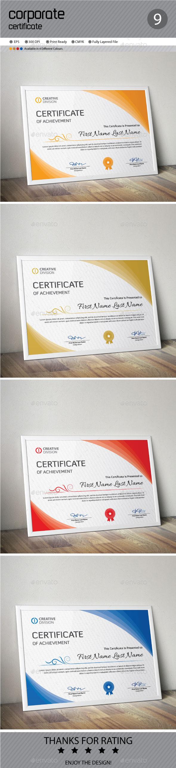 GraphicRiver Certificate 11957373