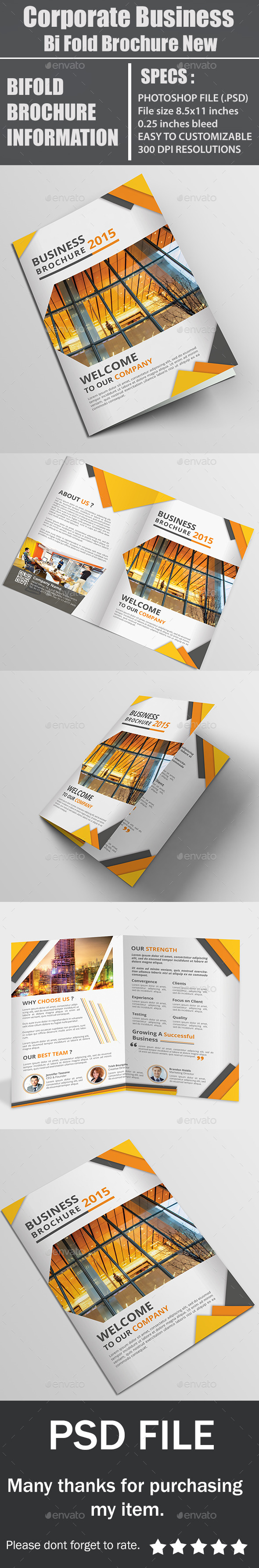 GraphicRiver Corporate Business Bi Fold Brochure New 11957653
