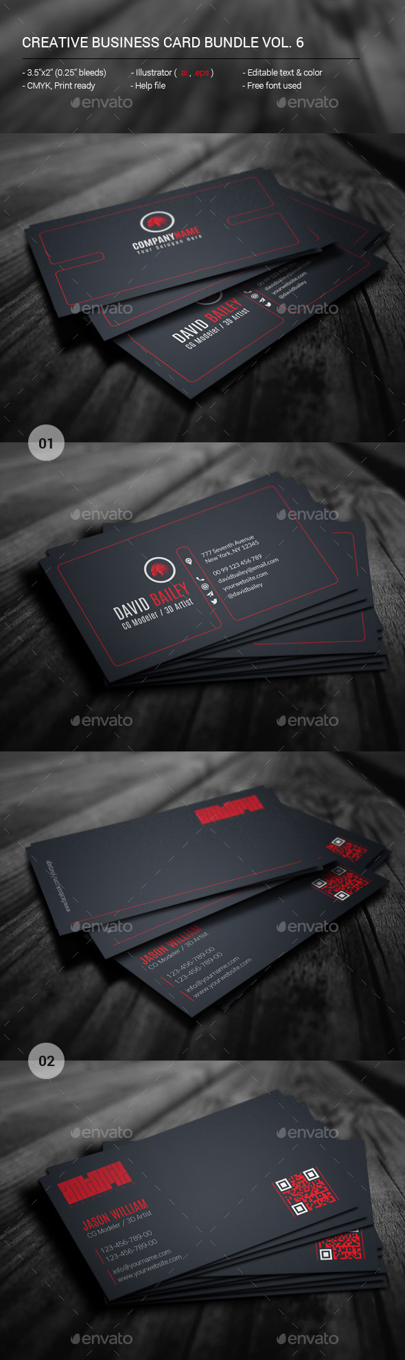 GraphicRiver Creative Business Card Bundle Vol 6 11957923