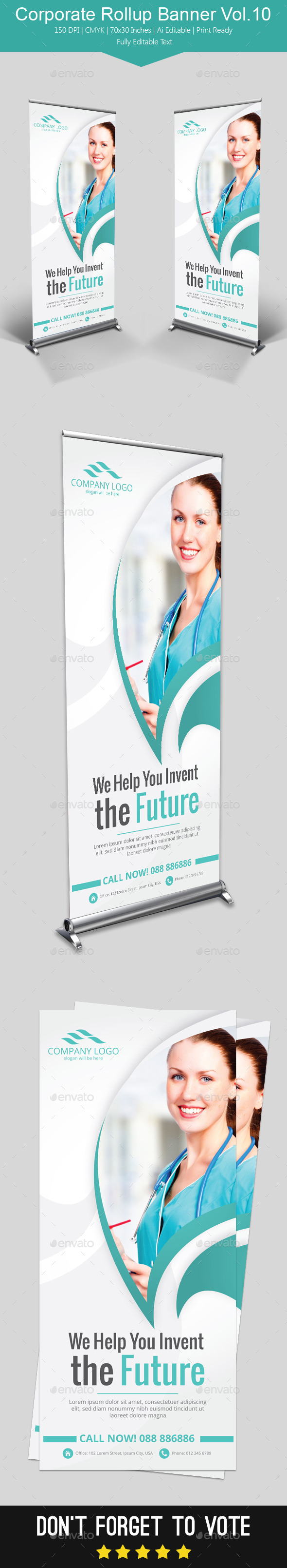 GraphicRiver Corporate Rollup Banner Vol.10 11957939