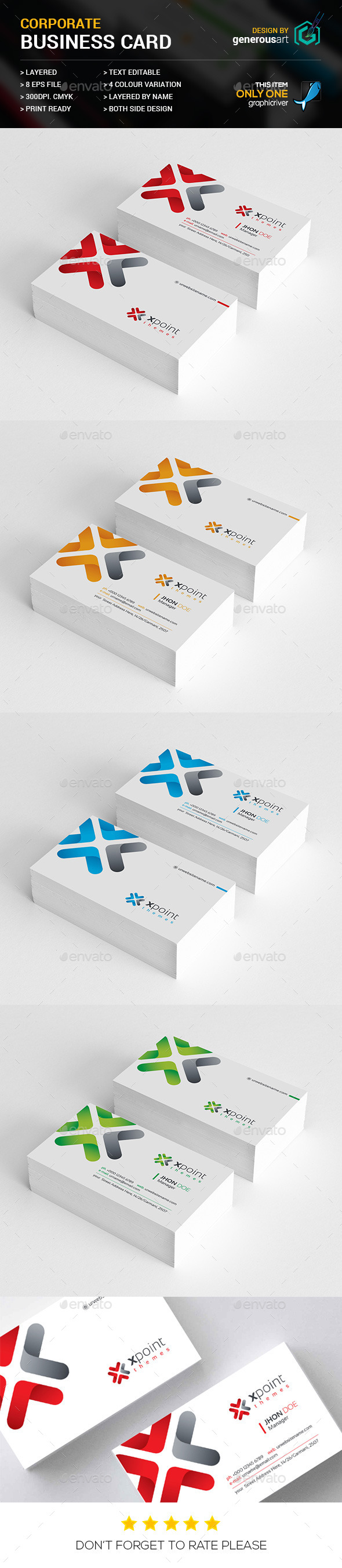 GraphicRiver X Point Themes Business Cards 11958558
