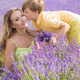 Mother with little son on lavender field - PhotoDune Item for Sale