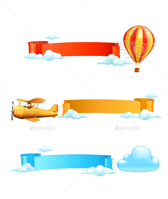 GraphicRiver Colorful Air Banners 11958806