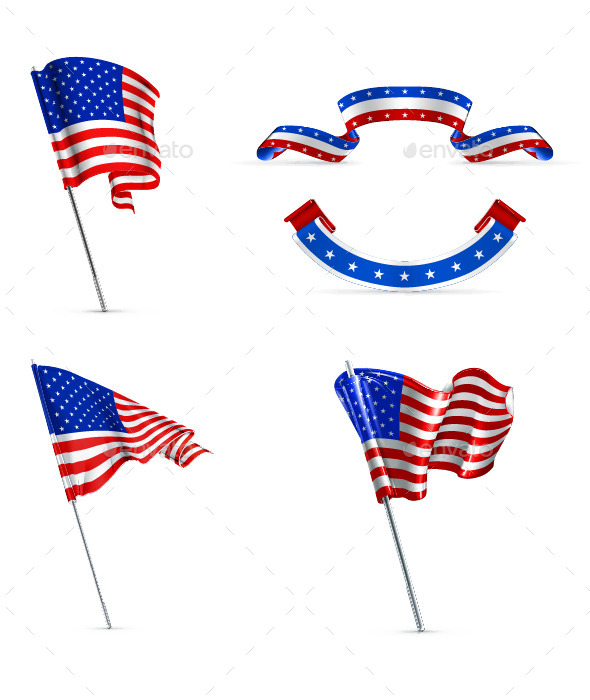 GraphicRiver United States Wavy Flags 11958920