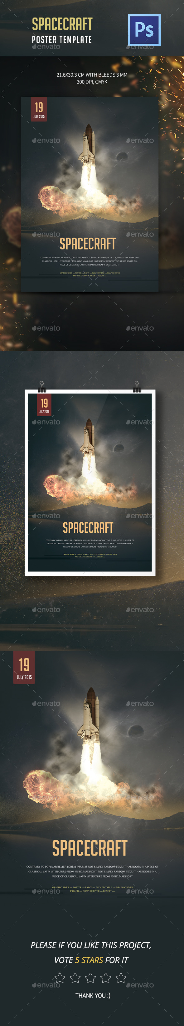 GraphicRiver Spacecraft Poster Template 11959297